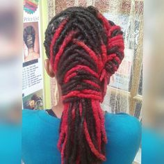 Hair done at nubian roots by toya. #locs $dreads #dreadlocks #red