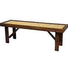 Oriental Furniture Japanese Bamboo Bench