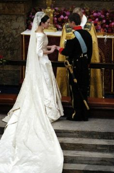 The wedding of Frederik, Crown Prince of Denmark, and Mary Donaldson took place on 14 May 2004 in the Copenhagen Cathedral.