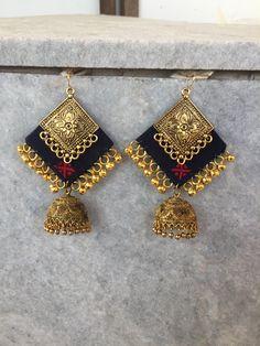 Silk Thread Earrings, Fabric Earrings, Jewelry Design Earrings, Tassel Jewelry, Textile Jewelry, Fabric Jewelry, Fancy Jewellery, Fashion Jewellery, Peacock Jewelry