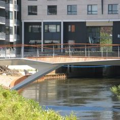 Storaa Stream, Holstebro by OKRA Landscape Architects « Landscape Architecture Platform Traditional Landscape, Contemporary Landscape, Getting Married In Denmark, Bridge Structure, Over The Bridge, Bridge Design, Pedestrian Bridge, Walkway, Urban Design