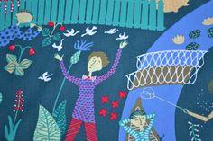 Retro fabric to patchwork Swedish design by Scandinaviavandesign