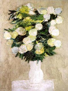 Bernard Cathelin (1919-2004) — Bouquet de Boules de Neige   (600x806)