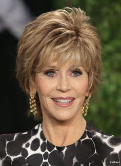 Jane Fonda Hairstyle 2013 - Jane Fonda showed off a classic look for ...