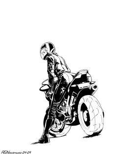 Bike Girl Inks von AGNakamura - Line drawings - Motorrad Motorcycle Tattoos, Motorcycle Art, Motorcycle Birthday, Women Motorcycle, Mc Bess, Motorbike Drawing, Deviantart, Super Fast Cars, Motorbike Girl