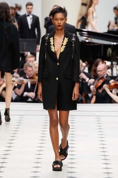 Obsessed with Burberry's chic military-inspired looks.