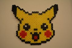This is a Pikachu made from Perler Beads. It is made out of Perler Beads and are made within 3 days of your order. Please keep in mind that