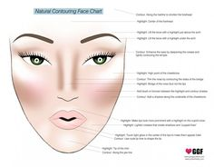 Natural contouring face chart contouring and highlighting, teeth whitening, makeup tips, hair makeup Contour Makeup, Contouring And Highlighting, Skin Makeup, Face Contouring, Contouring Tutorial, Contouring Guide, Contouring Products, Contour Face, Shading Makeup