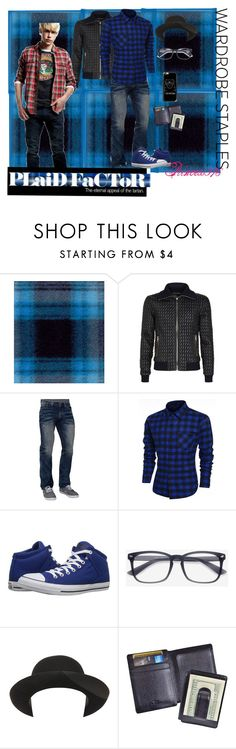 """""""Mad for Plaid"""" by princess976 ❤ liked on Polyvore featuring Dolce&Gabbana, Affliction, Converse, Super Duper, Royce Leather, Casetify, Ben Sherman, men's fashion and menswear"""