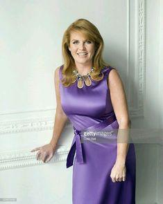 Sarah, Duchess of York, in a lavender dress in Sarah Duchess Of York, Duke And Duchess, Lady Diana, Sarah Ferguson Prince Andrew, Eugenie Of York, Princess Eugenie, Princess Beatrice, Elisabeth Ii, Royal Fashion