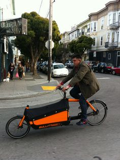Cargo Bike - We are the only Irish courier company with a cargo bike fleet. #EcoFriendly  www.clickacourier.ie