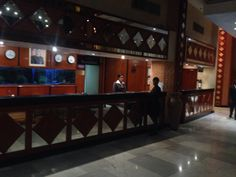 Crowne Plaza Hotel reception. Harare Zimbabwe. (This was a late night shot, normally not so dark or empty)