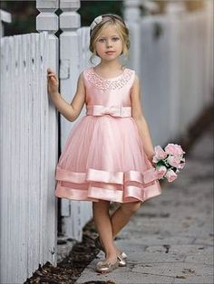 Girls Elegant Pearl Embellished Two Tier Special Occasion Holiday Dress Little Girl Dresses Dress Elegant Embellished Girls Holiday Occasion Pearl special Tier Girls Spring Dresses, Gowns For Girls, Frocks For Girls, Dresses Kids Girl, Kids Outfits, Girls Dresses Size 6, Cute Little Girl Dresses, Baby Dresses, Pink Dresses