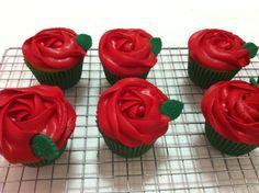 Rose cupcakes Rosette Cupcakes, Rosettes, Desserts, Food, Tailgate Desserts, Deserts, Essen, Postres, Meals