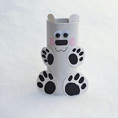 Cardboard Tube Crafts for Kids - Crafts by Amanda Kids Crafts, Bear Crafts, Animal Crafts For Kids, Crafts To Do, Family Crafts, Quick Crafts, Easter Crafts, Winter Activities For Kids, Winter Crafts For Kids