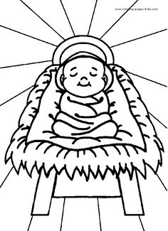 Religious Christmas Coloring Page
