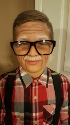 100th Day of School. Old Man Makeup