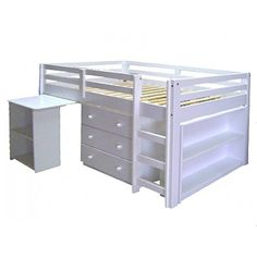 white midi sleeper bunk beds adelaide- kids beds adelaide - out of the cot - 3