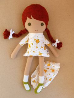 Reserved for Ashlee Fabric Doll Rag Doll Red by rovingovine