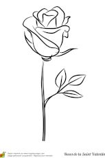 A stylized rose stem for coloring for Valentine's Day - Ivy's Rose - ., Why Valentines Day Drawings Will make You Forget About Everything The ideal can be something, Rose Outline Drawing, Rose Drawing Simple, Rose Drawing Tattoo, Simple Rose, Outline Drawings, Pencil Art Drawings, Tattoo Drawings, Rose Outline Tattoo, Tattoo Roses