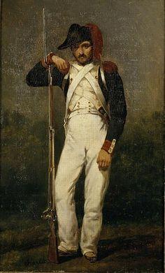 "(Nicolas-Toussaint Charlet) (1792-1845) –""Soldat de Valmy.""- revolutionary infantry"