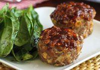 Mini BBQ muffin tin meatloaves