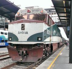 Amtrak at King Street Station Seattle, WA Auto Train, Train Car, Train Rides, Union Pacific Train, Vintage Trains, Bonde, Railway Museum, Train Engines, Train Journey