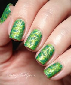 Double Stamped Leafy Green Garden from Sassy Shelly