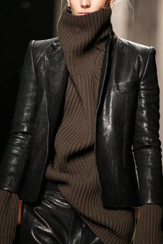 Black Leather Jacket Fall Winter 2013  Haider Ackermann F/W 2013  #PFW