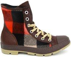 Converse and American outdoors brand Woolrich are back at it again, this time collaborating and creating this pair of Chuck Taylor boots. As the name implies, the design combines the classic Chuck Taylor with elements of a boot, which is perfect for the upcoming winter months. The shoes sport a brown leather upper along with