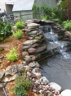 59 fresh and beautiful backyard ponds and waterfall garden ideas 30 > momogicars. 59 fresh and bea Backyard Water Feature, Ponds Backyard, Garden Ponds, Backyard Waterfalls, Patio Pond, Bog Garden, Backyard Patio, Garden Pond Design, Landscape Design
