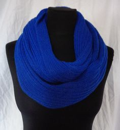 Blue Cowl Scarf  Icelandic Production by HuldaGK on Etsy