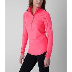 Under Armour® Fly Fast Jacket ($70) ❤ liked on Polyvore featuring activewear, activewear jackets, pink, under armour sportswear, under armour and athletic jackets