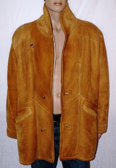Original Eighties Vintage Man Suede Jacket Shearling Size XL Montone Cappotto Uomo Pelle Scamosciato Vintage Originale Anni 80 Taglia XL di BeHappieWorld su Etsy