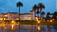 8 elegant U.S. mansion hotels...  Dolce Hayes Mansion in San Jose, California, was completed in 1905. Flush with riches from iron ore mining enterprises in Michigan and Wisconsin, Mary Hayes Chynoweth and her two sons had this expansive Mediterranean triple residence built in the early 1900s. The City of San Jose purchased the manse in 1985 and later turned it into a conference center, adding the 214 guestrooms now available for nightly guests. From $149 per night. www.hayesmansion.com