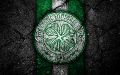Download wallpapers FC Celtic, 4k, emblem, Scottish Premiership, football, Scotland, Celtic, asphalt texture, soccer, Scottish Football Championship, Celtic FC