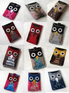 Owl cases for your iPod Nano by etsy seller EvelynX. I want a pink one. And a grey one. And a yellow one. Ooh! And a red one to match my Nano. $21.00