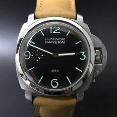 "Panerai Luminor 1950 Pam 127 ""Fiddy"". #watchporn #watchmania #wristwatch #watchoftheday #timepiece #secondhand #instawatch #secondoriginalwatch #jamtanganseken #preownedwatch #luxurywatch. www.mulialegacy.com"