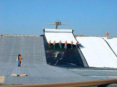 composite geomembrane installation