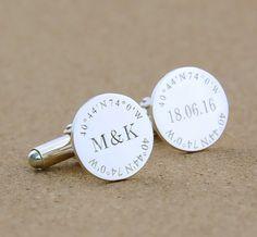 Groom Wedding Cufflinks,Initials And Date Cufflinks,Coordinate Cufflinks,Personalized Monogrammed Cufflinks,Groom Cufflinks,Men Gift