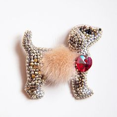 Beaded Brooch, Beaded Jewelry, Bracelet Patterns, Beading Patterns, Brooches Handmade, Handmade Jewelry, Bead Loom Bracelets, Beaded Animals, Beaded Ornaments