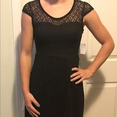 Sale! NWT Black dress NWT Black flower printed dress from Charlotte Russe. Size small. The dress is made out of a lacy material with flower print. The back opens up towards the top as seen in the picture. Charlotte Russe Dresses
