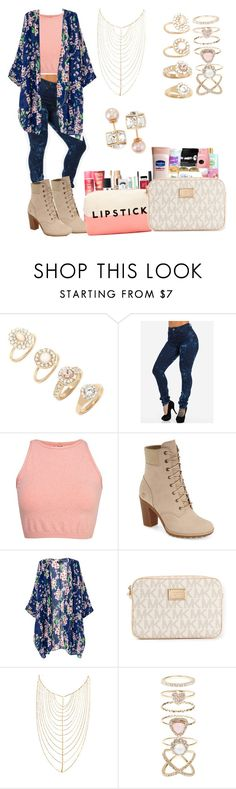 """""""Getting my makeup and hair done"""" by life957 ❤ liked on Polyvore featuring Forever 21, Free People, Timberland, MICHAEL Michael Kors, Lana, Accessorize and Vita Fede"""