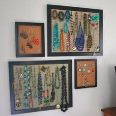 Display your jewelry. Nice idea.