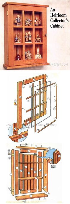 Collectors Wall Display Cabinet Plans - Furniture Plans and Projects | WoodArchivist.com