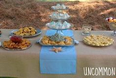 Beach Inspired Baby Shower Food Table