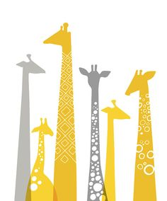 Hey, I found this really awesome Etsy listing at https://www.etsy.com/listing/159519413/16x20-modern-giraffe-silhouettes-giclee