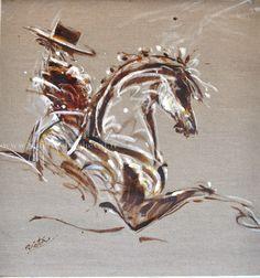 1000 id es sur le th me peintures de chevaux sur pinterest for Peinture sur fer a cheval