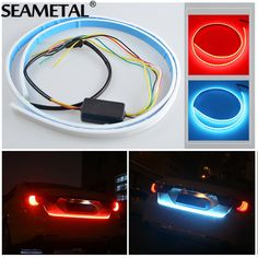 Cheaper US $13.99  120CM Car Light LED Strips Rear Trunk Tail Lights Braking Dynamic Streamer Turn Turning Signals Warning LEDs Strip Car-styling