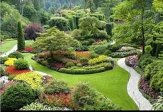 The famous Butchart Gardens at Victoria, B.C , Butchart Gardens. The famous Butchart Gardens at Victoria, B. Modern Landscaping, Garden Landscaping, Landscape Design, Garden Design, Buchart Gardens, Canada Pictures, Parks, Visit Vancouver, Vancouver Island